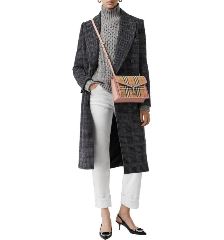 b724cdd1f6d1 Small Macken Vintage Check Crossbody Bag
