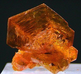 a large lustrous single crystal of mimetite