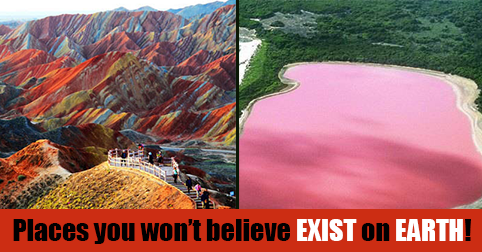 Yes, such places do exist on this planet! Click here to check out the most surreal & bizarre places on earth
