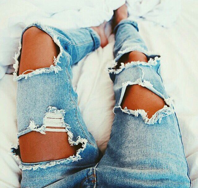 I love rapped jeans!