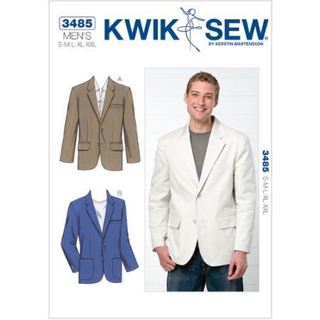 Kwik Sew Pattern Blazer, (S, M, L, XL, XXL)