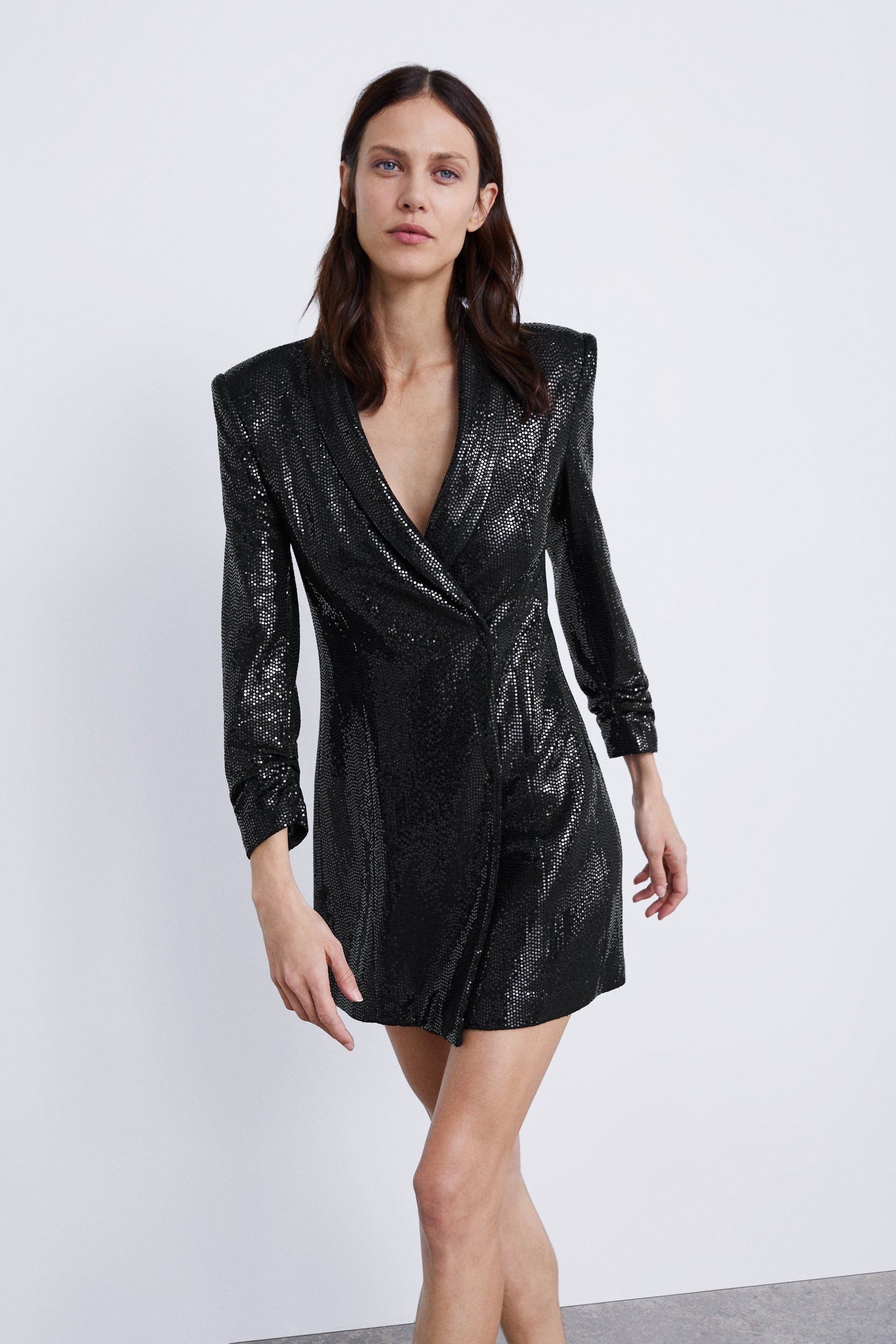 c5edc45e80 Image 2 of SHINY BLAZER DRESS from Zara
