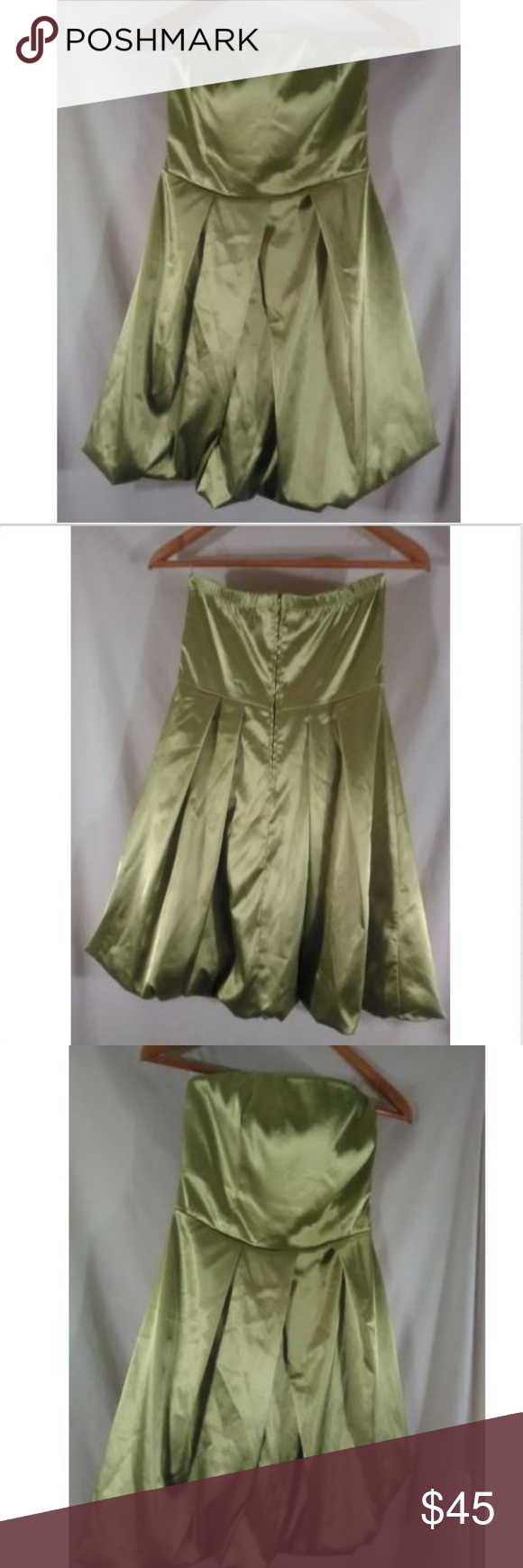 Studio y bright neon green party prom formal dance in my posh