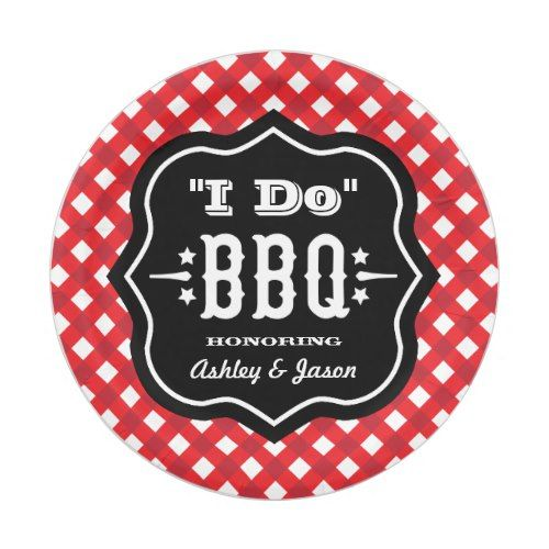 I Do BBQ | Red and Black Wedding Paper Plate  sc 1 st  Pinterest & I Do BBQ | Red and Black Wedding Paper Plate | Wedding paper ...