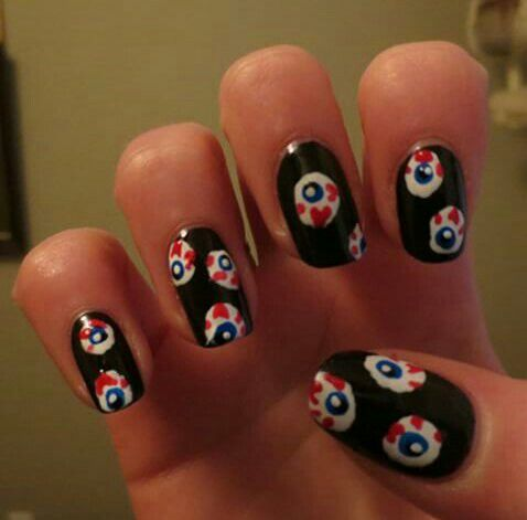 Beauty nailart nails eyeball nail art using essie wicked my beauty nailart nails eyeball nail art using essie wicked prinsesfo Image collections