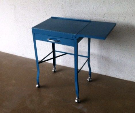 Brilliant Paint An Old Metal Desk Table A Vibrant Color As Shown Here Home Remodeling Inspirations Basidirectenergyitoicom