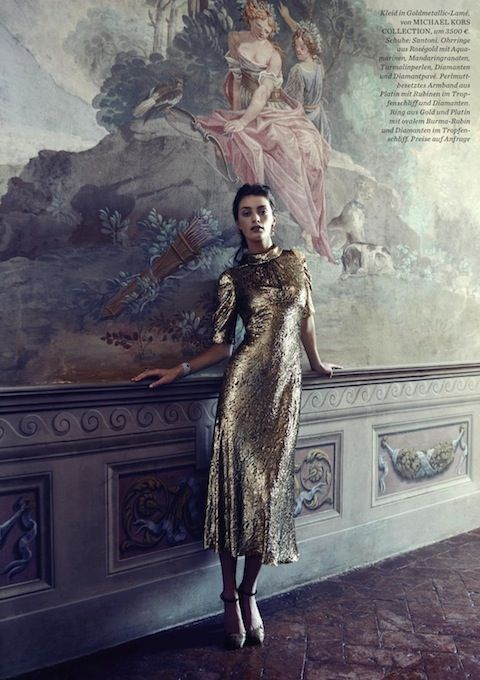 """""""Princess Charming"""": Milly Simmonds is Downton Abbey-esque by Pasquale Abbattista by Elle Germany October 2015"""