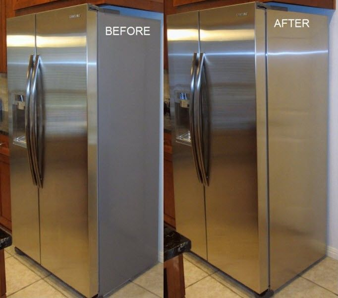 refridgerator panels to finish off sides with stainless steel