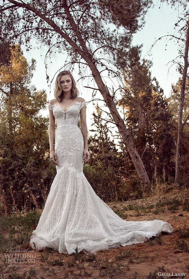Galia lahav gala bridal off the shoulder sweetheart neckline