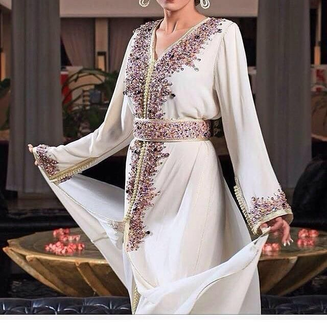 Caftan 2016 2017 robes takchita haute couture for Caftan avec satin de chaise