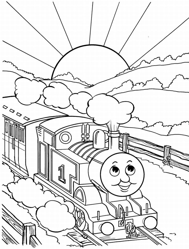 Train coloring template - Train Coloring Pages Thomas Train Coloring Pages