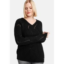 Photo of Samoon Pullover mit Strickmuster Black Damen Gerry Weber