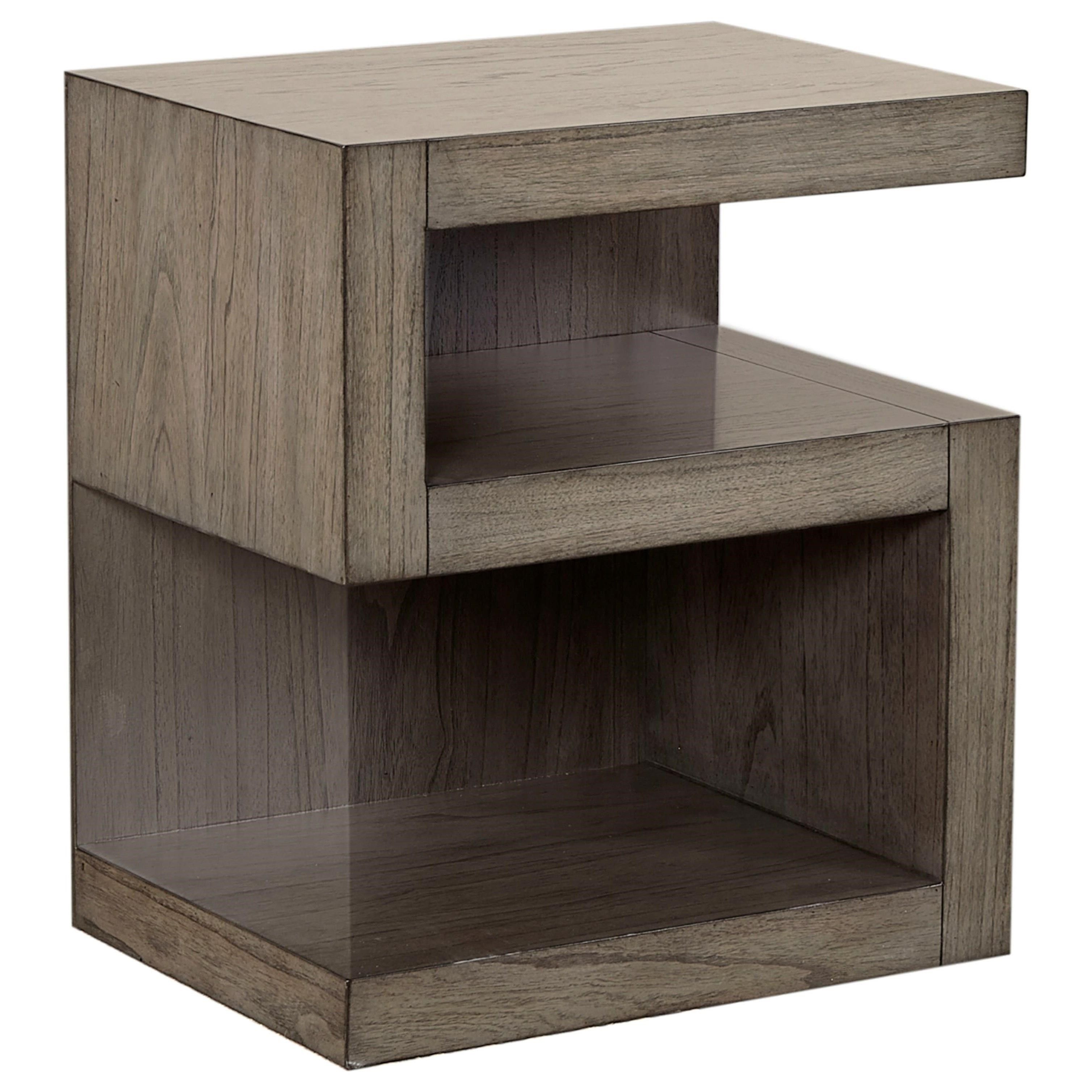 Modern Loft S Nightstand With 2 Shelves By Aspenhome