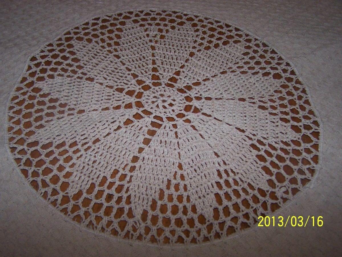 Mantel redondo tejido en crochet s 13900 mercadolibre - Mantel de crochet ...