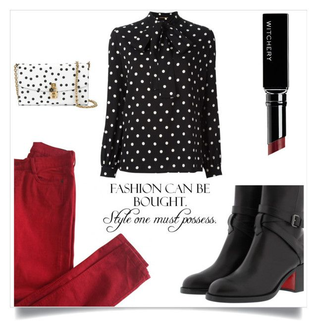"""""""Untitled #4340"""" by im-karla-with-a-k ❤ liked on Polyvore featuring Comptoir Des Cotonniers, Yves Saint Laurent, Christian Louboutin, Simmons, Witchery and Dolce&Gabbana"""