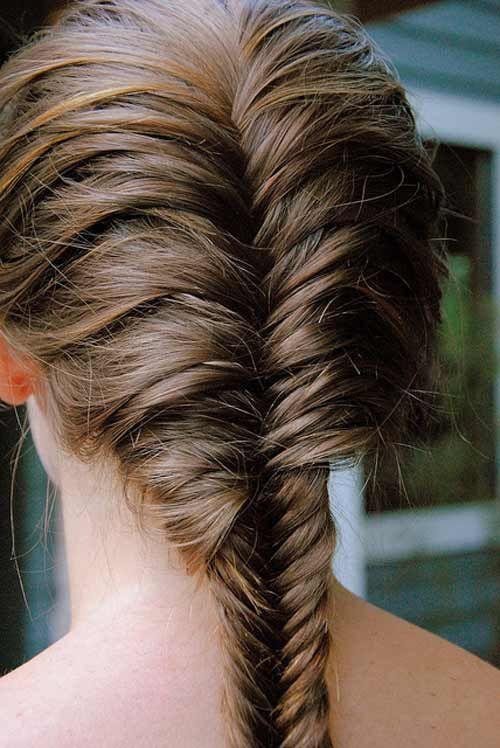 Make A Fishtail Braid Style Pinterest Braids Hair Styles And Hair