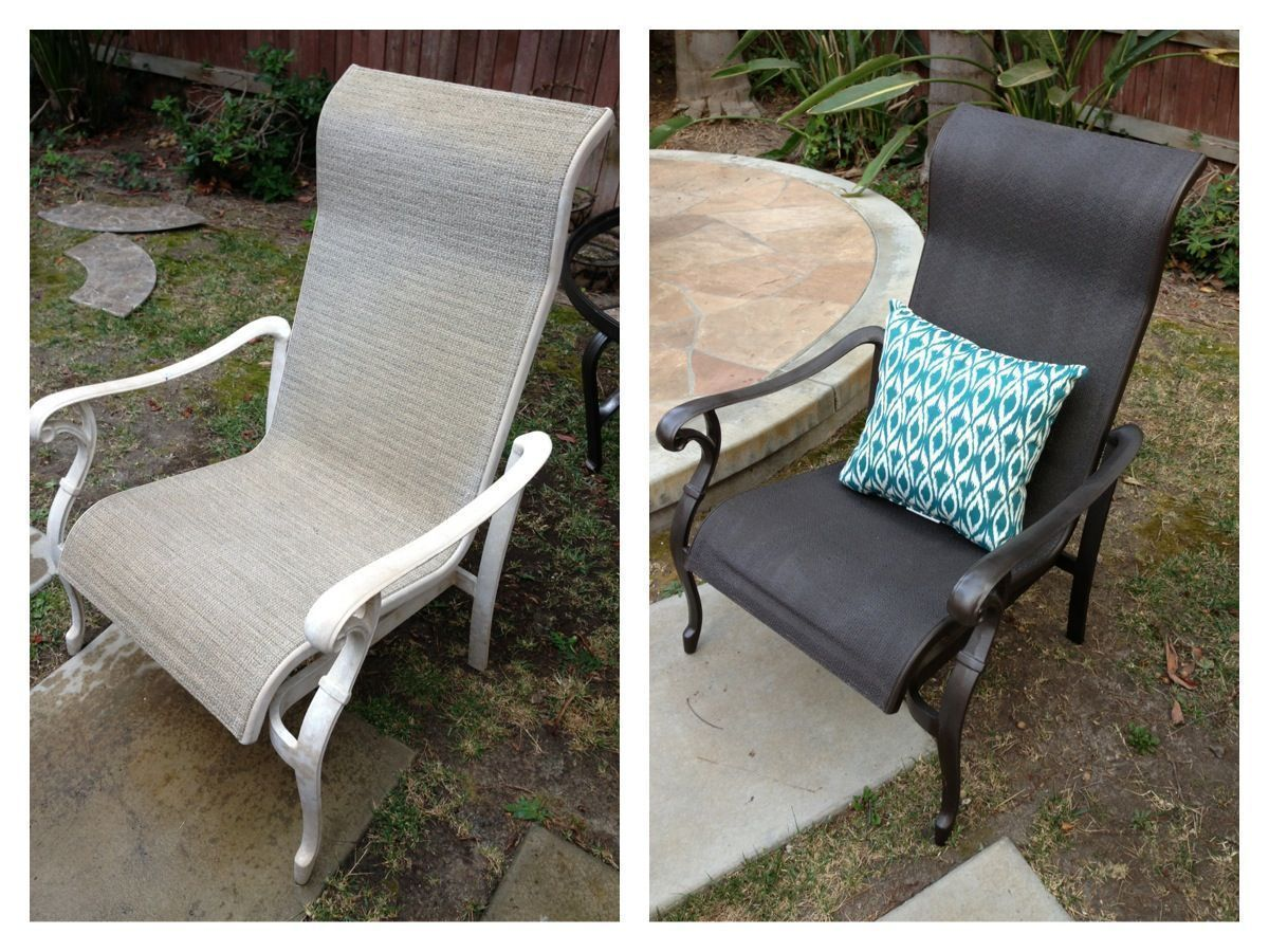 Patio Furniture Makeover A Little Spray Paint Went A Long Way