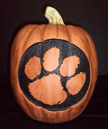 Take A Look At This Clemson Pumpkin By Cumberland Designs On Zulily Today Tiger Halloween Halloween Pumpkins Pumpkin Decorating