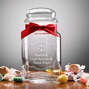 Legal Office Personalized Treat Jar Personalized Candy Jars Personalized Treat Jar Candy Jar Gift Ideas