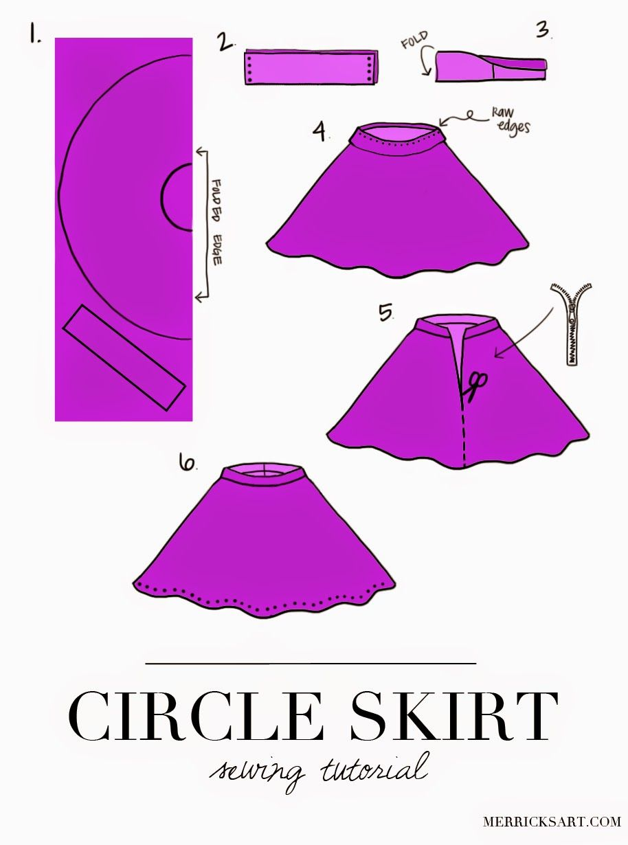 Fashion style Diy skirt skater no sew for girls