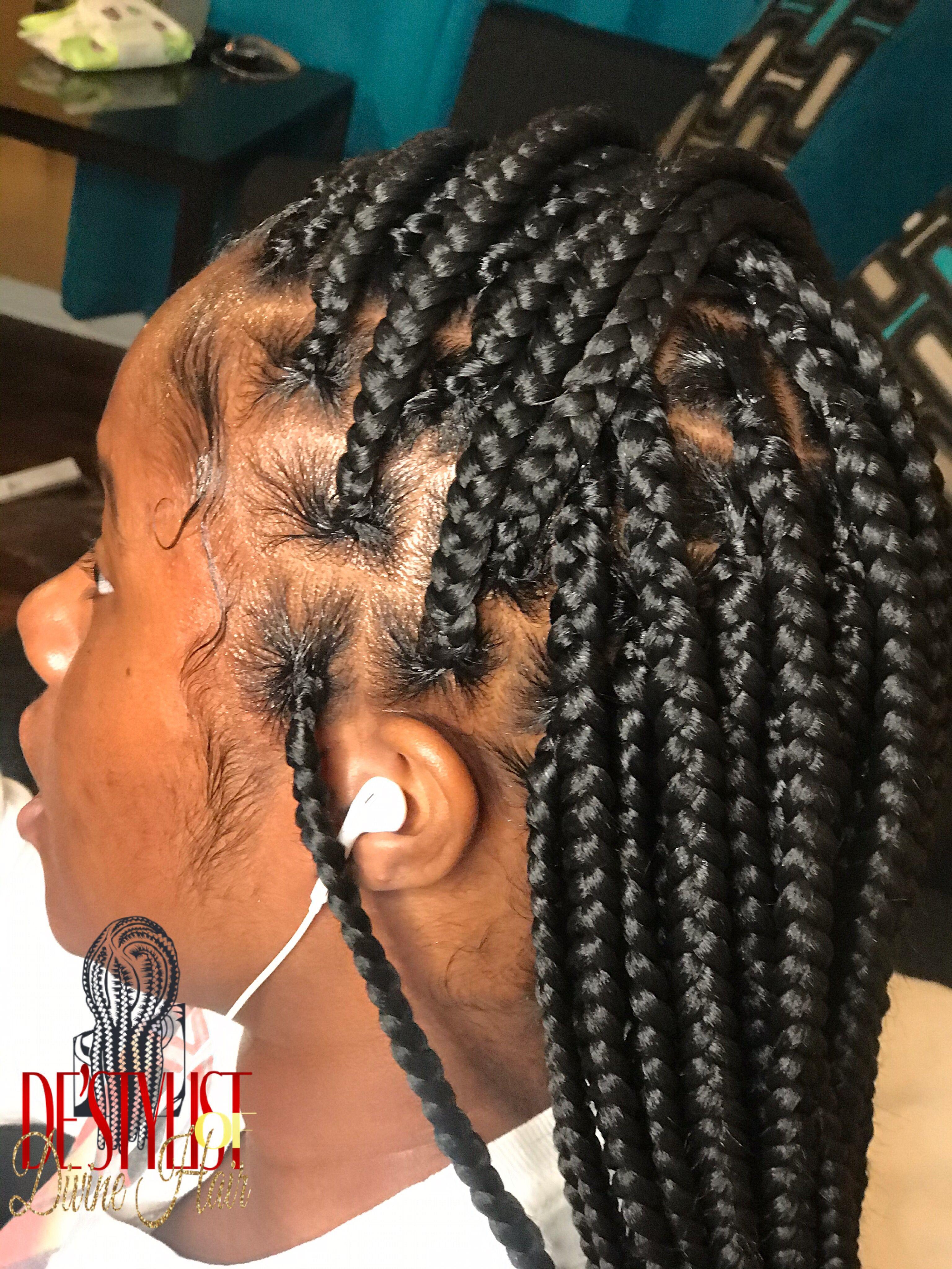 De Stylist Beauty Lounge In Lafayette La In 2020 Twist Braid Hairstyles Feed In Ponytail Black Girl Braided Hairstyles