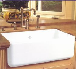 Rohl   Shaw`s Original Fireclay Apron Sink - RC3018