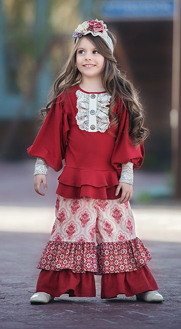 Persnickety Elegant Tunic for Girls in Red PREORDER - Persnickety Elegant Tunic For Girls In Red PREORDER My Sweet Ava