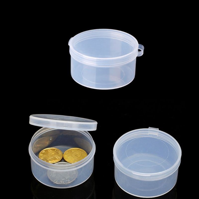 Plastic Round Clear Plastic Containers Jewelry Beads Storage Ring