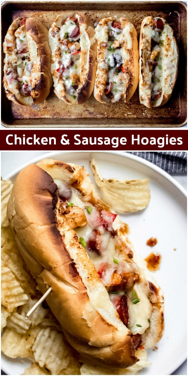 Chicken and Sausage Hoagies
