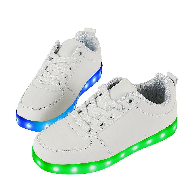 san francisco 41e2c 88eef Weiß Low Top Leuchtende Schuhe Mit LED Herren,Weiß LED ...