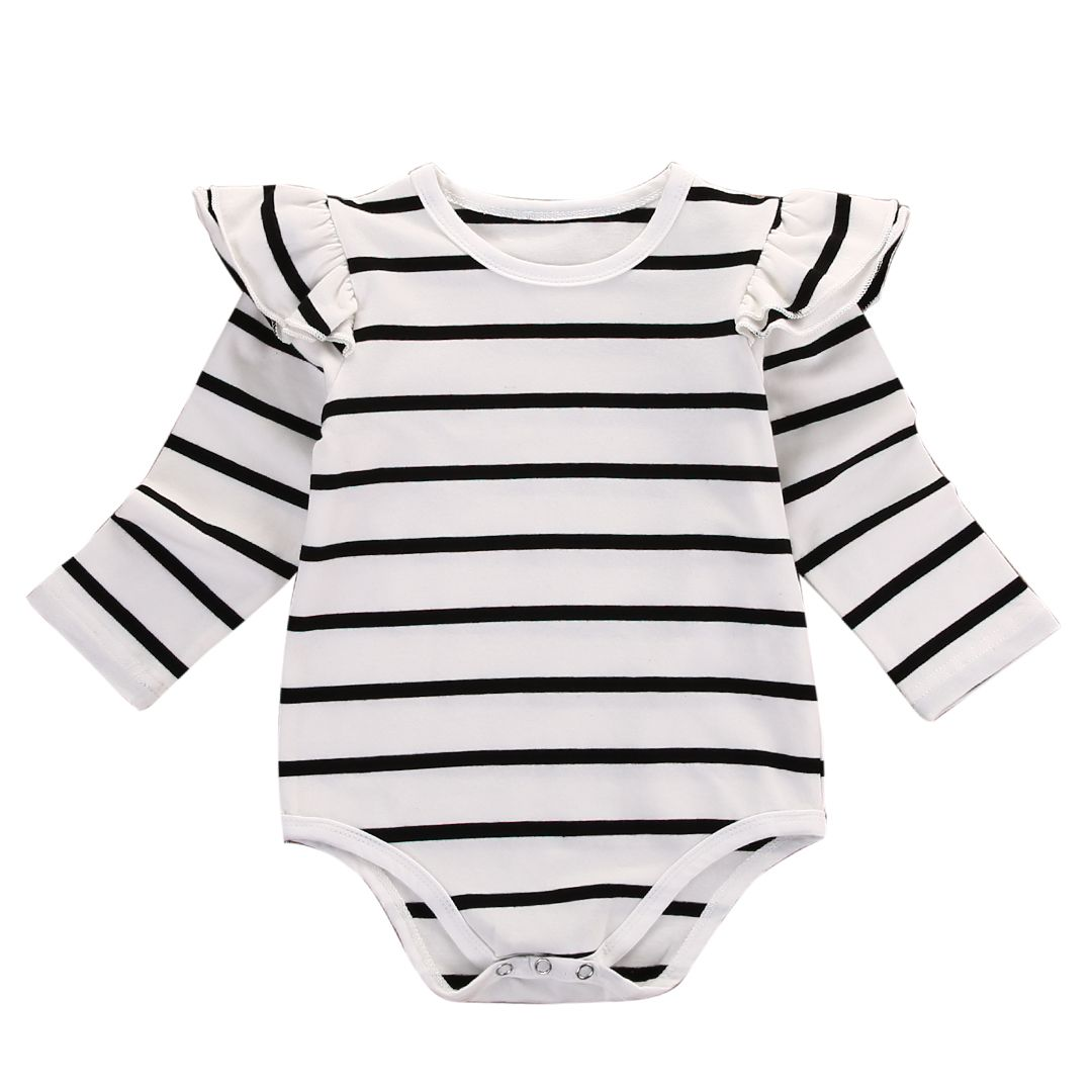 0e70d14c679 Nice Striped Ruffles baby clothes romper 2017 Newborn Infant Kids Baby Boy  Girl Cotton Romper Jumpsuit Clothes Outfit -  8.7 - Buy it Now!