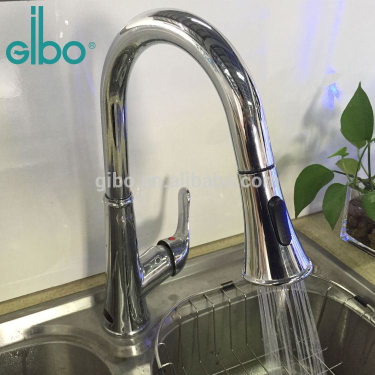 Electric Automatic Sensor Kitchen Sink Mixer Water Filter Tap With Solenoid  Valve Auto Infrared Induction Touchless