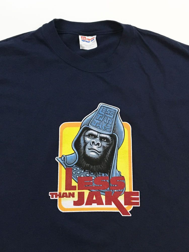 Vintage Less Than Jake Ape T Shirt Ska Punk Planet of the Apes #Hanes #GraphicTee