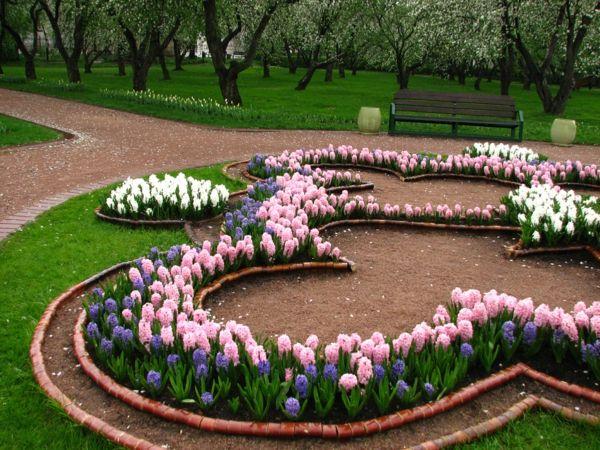 Blumenbeet Gestalten coole gartengestaltung ungewöhnliche ideen für ihre blumenbeete