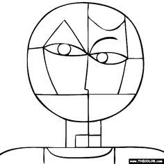 Paul klee senecio coloring page dessin pinterest for Paul klee coloring pages
