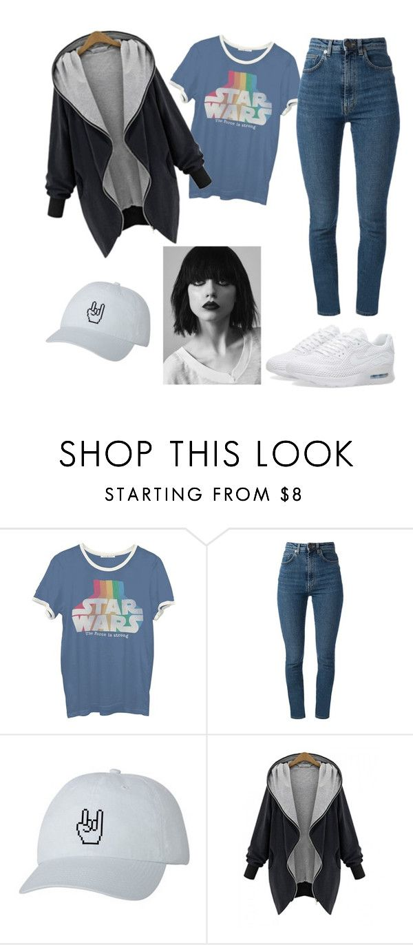 """Untitled #112"" by rowenalikesmusic ❤ liked on Polyvore featuring Junk Food Clothing, Yves Saint Laurent and NIKE"