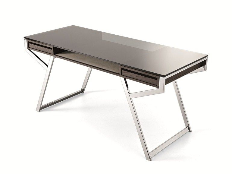 Writing Desk With Drawers Lui Gallotti Radice Escritorio De Cristal Mueble Escritorio Diseno De Escritorio