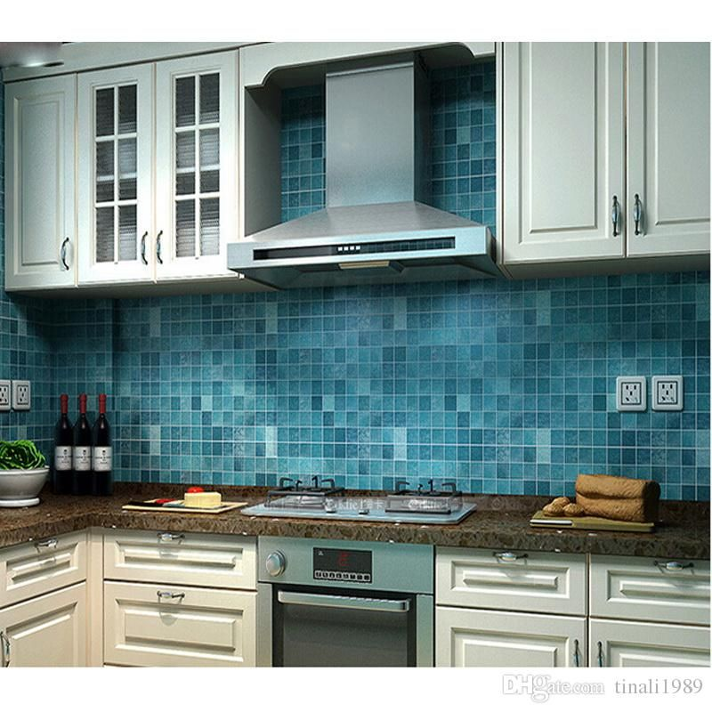 Bathroom Waterproof Wall Sticker Pvc Mosaic Tile Wallpaper Kitchen Walls Paper Oil Proof Stickers Self Adhesive Wallpapers From Tinali1989 40 21 Dhgate Com Kitchen Mosaic Kitchen Wallpaper Tile Stickers Kitchen