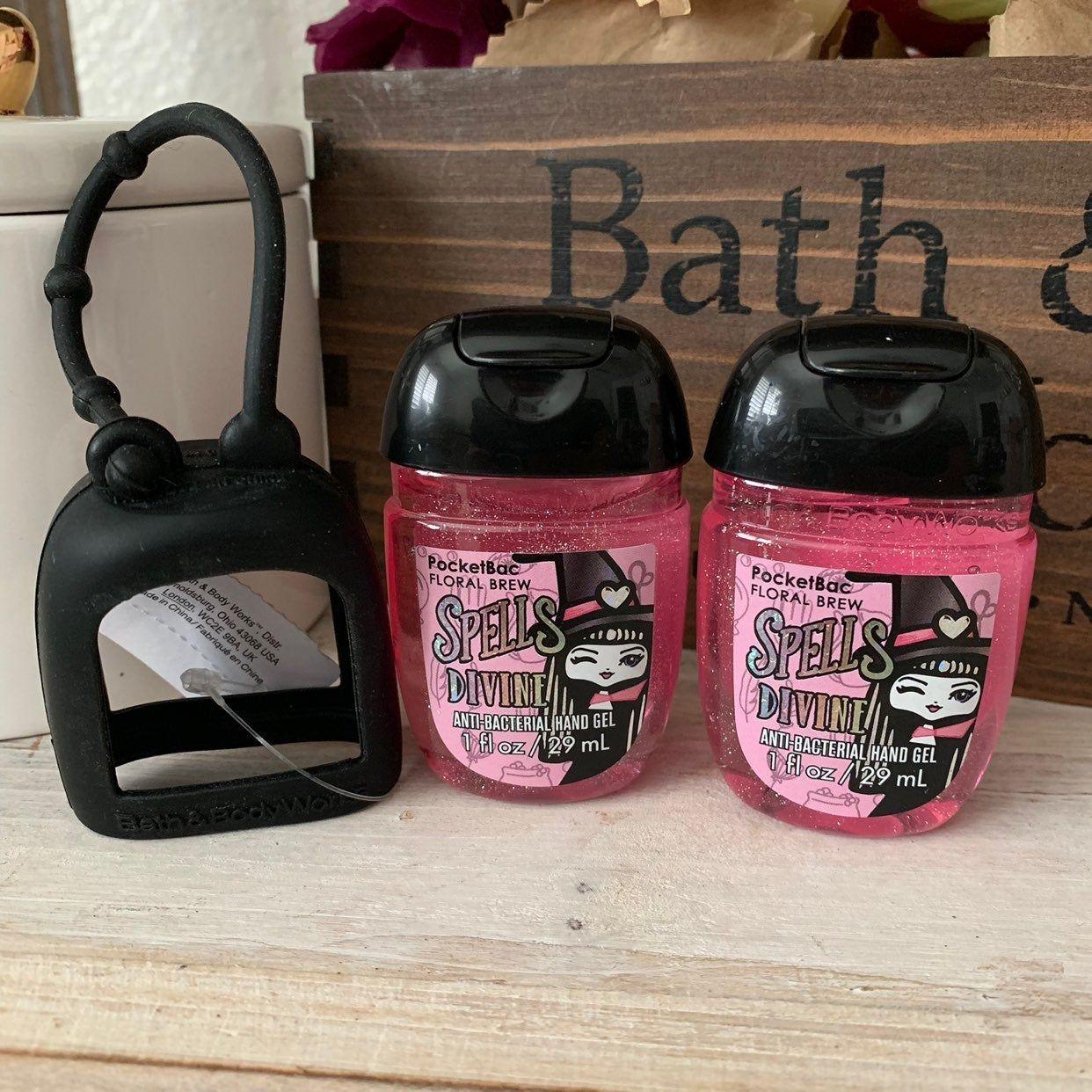 Bath Body Works Pocketbac Set Black Silicone Pocketbac Holder 2