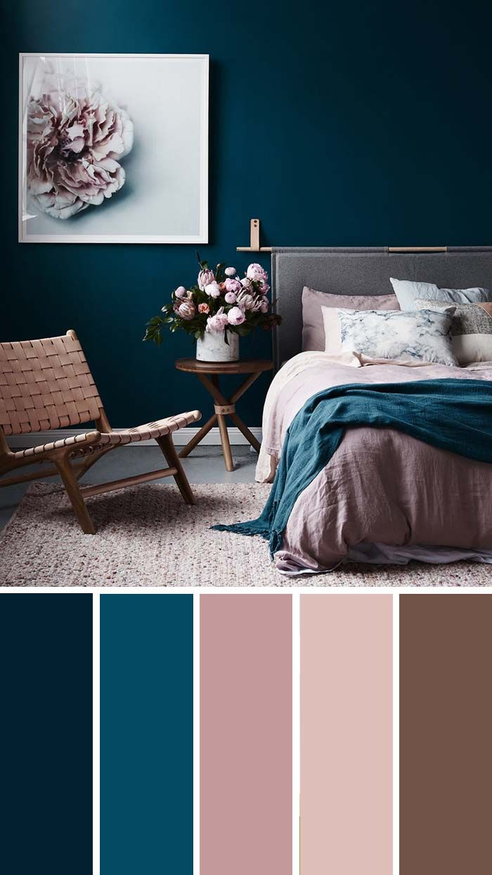 8 Beautiful Bedroom Color Schemes ( Color Chart Included