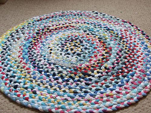 Woven Floor Mat Rug Tutorial Recycled Rugs Diy Rug