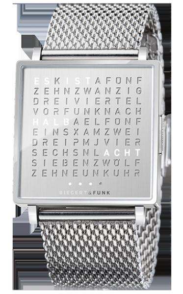 Qlocktwo by Biegert & Funk Armbanduhr \