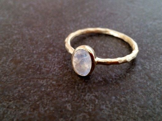 SALE! Gold  Genuine Moonstone Ring, Rainbow Stone Ring,Slim Band, Gemstone Ring,Stacking Ring, June Ring,Simple Ring by CandySimpleJewelry on Etsy https://www.etsy.com/listing/212680213/sale-gold-genuine-moonstone-ring-rainbow