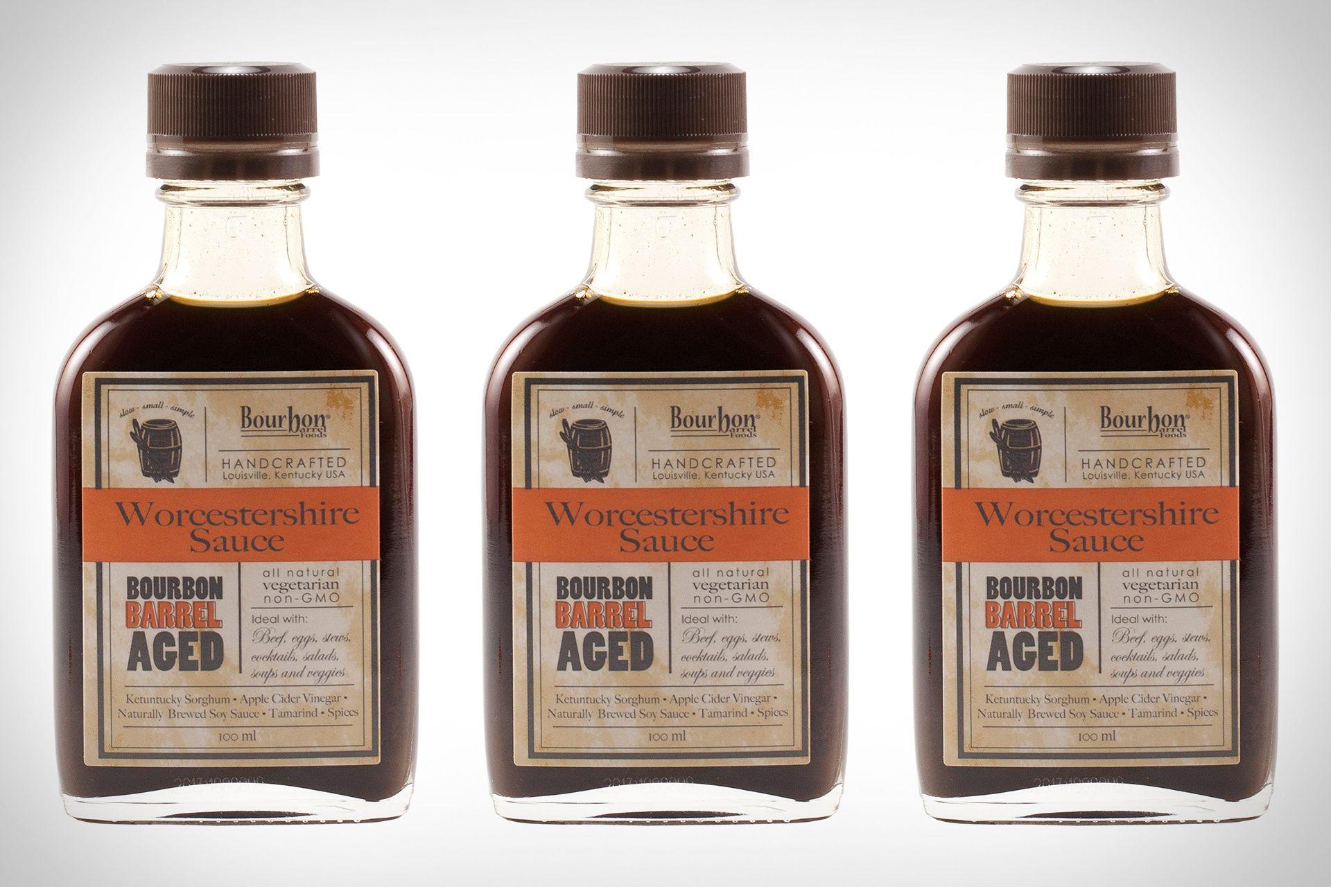 Bourbon barrel aged worcestershire sauce bourbon barrel