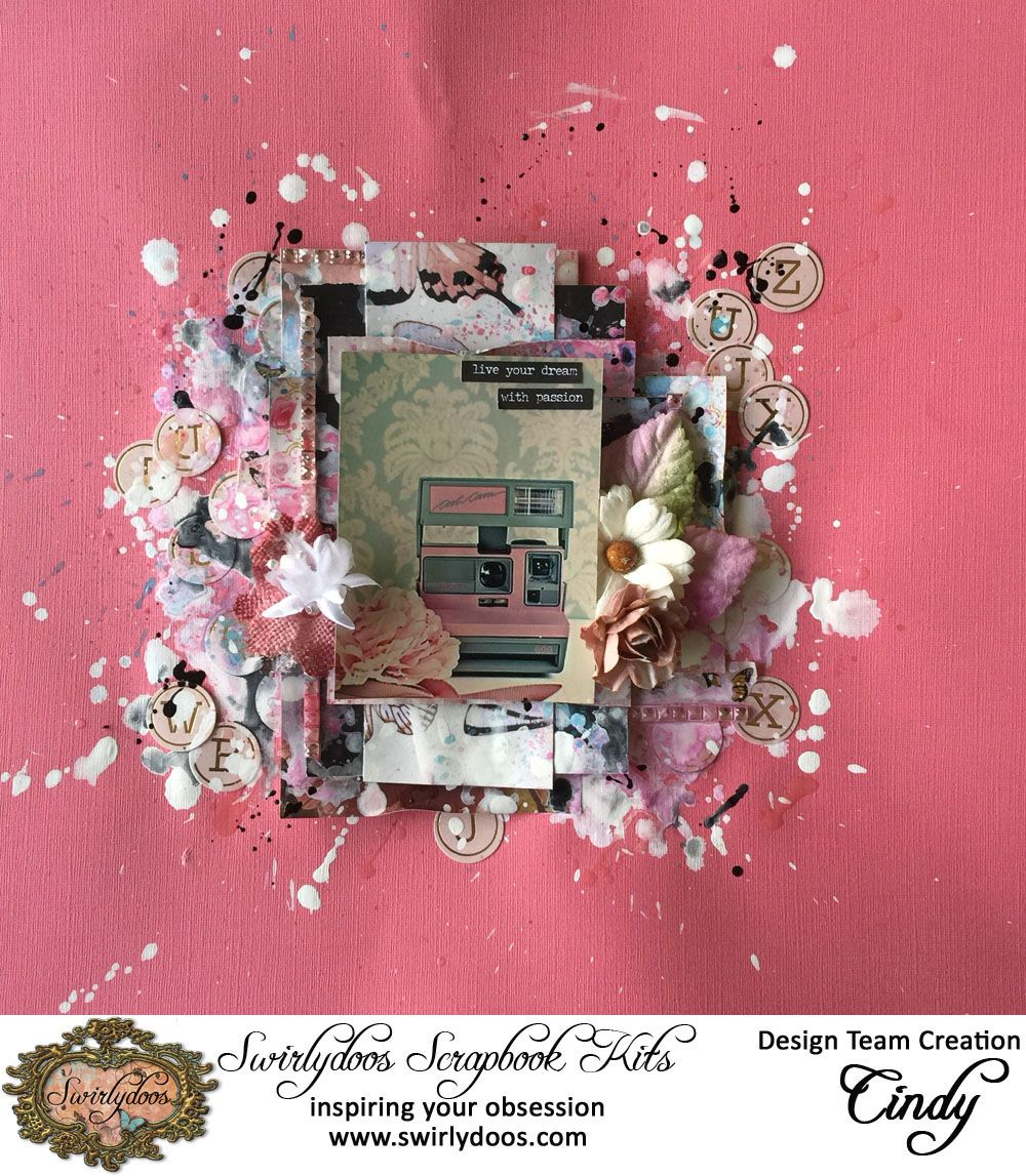 Swirlydoos Kit Club November 2015 Collection, Scarlet Elegance. - Scrapbook.com