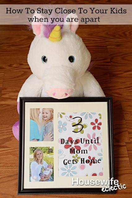 Housewife Eclectic: Staying Close To Your Kids While You Are Away. Make this darling countdown frame to help your kids while you are on a vacation, business trip or any other reason you might be away. #CloudPetsForever @CloudPets @Walmart [ad]