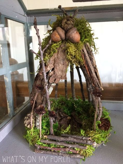 How To Make A Fairy House With Twigs and Moss
