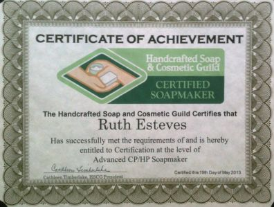This artisan is certified! blog post by Ruth