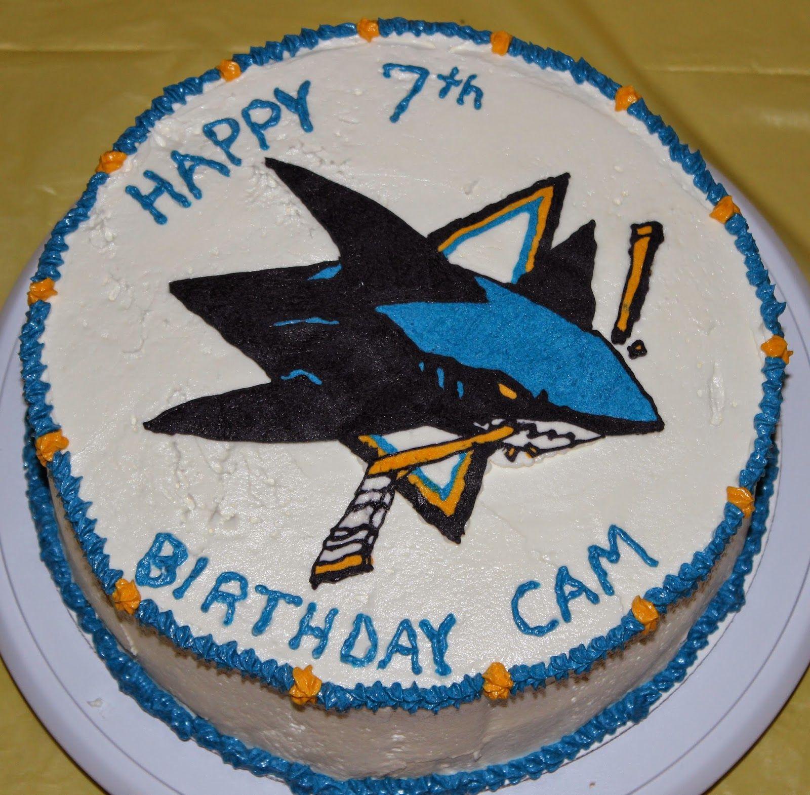 Fabulous San Jose Sharks Cake Shark Cake Cake Happy 7Th Birthday Funny Birthday Cards Online Inifofree Goldxyz