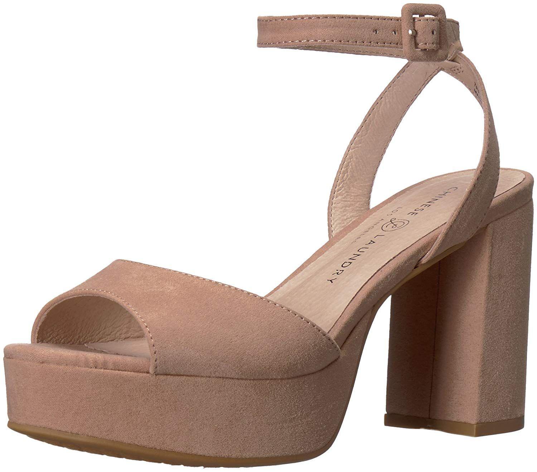 Chinese Laundry Women S Theresa Heeled Sandal Platform Peep Toe